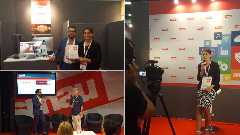 Il CEO di AT MEDIA e l'assessore del Comune di Alessandria premiati allo SMAU Torino 2016.